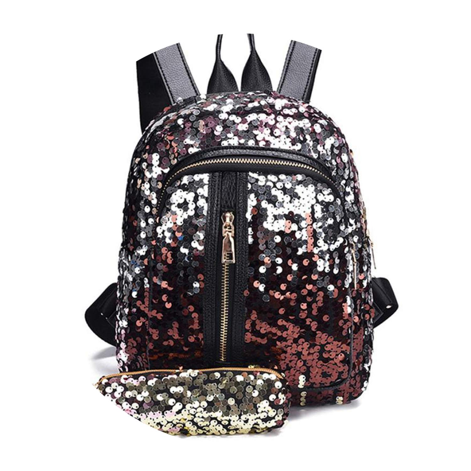 ca88e44634 Fashion Girl Sequins School Bag Backpack Travel Shoulder Bag+Clutch drop  shipping A0611 30