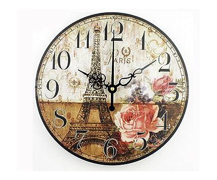 biscount reloj Vintage de cuarzo rosa Reloj de pared reloj decoración para el hogar moderno reloj