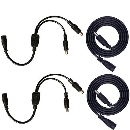DC 12V Power Splitter Kabel DC-Verteiler 1 Buchse 4 Stecker Adapter CCTV Kamera