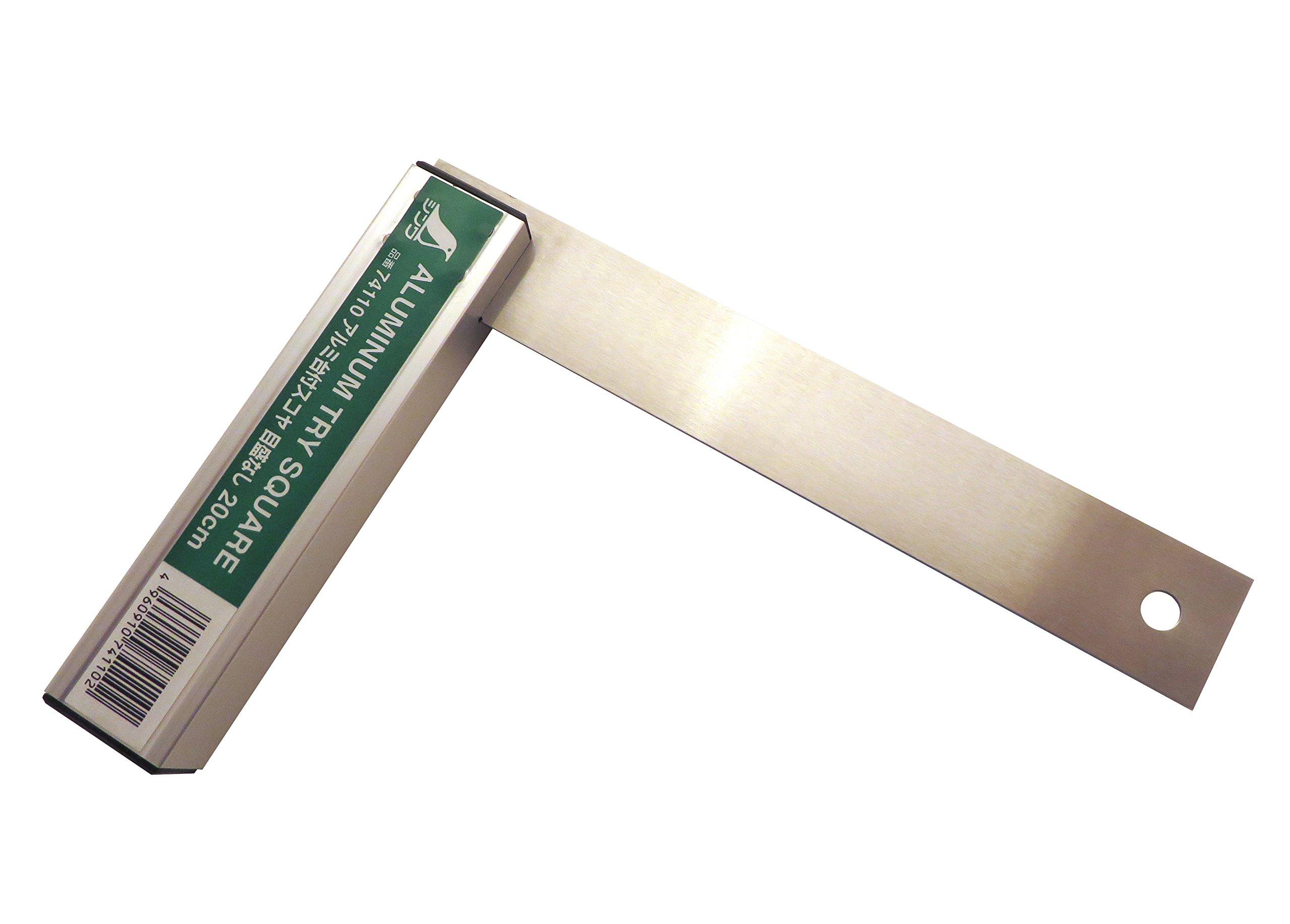 Shinwa Japanese 200 mm/ 8'' Machinist Engineer Square Aluminum & Stainless Steel 74110