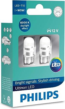 Philips 11961ULWX2 LED T10 Lampadina di Segnalazione per Auto (W5W