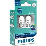Lâmpada Sinalização Led T10 12V - Philips 11961ULWX2
