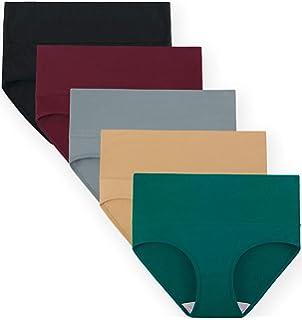 438cfd85448b INNERSY Women Underwear Tummy Control High Waist Soft Cotton Full Briefs  Solid Color Basic…