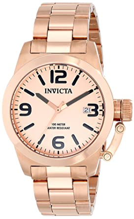 Invicta Mens 14830 Corduba Rose Gold Tone Dial 18k Rose Gold Ion-Plated Stainless Steel