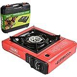 Portable Camping estufa de gas quemador de cocina único sistema de encendido automático sartén de soporte