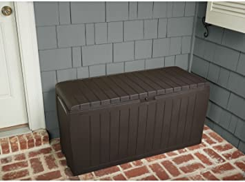 Attractive Patio Box Storage Deck Outdoor Garden Bench Pool Furniture Gallon Container  New Suncast Resin Seat Yard