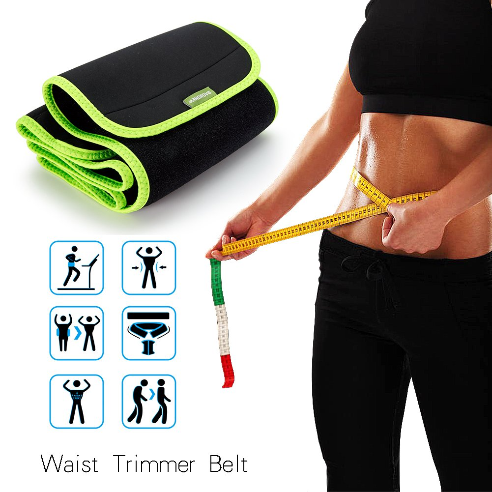 Adjustable Sweat Waist Trimmer AB Belt Weight loss Body Shape Wrap with Lower Back & Lumbar Support for Woman & Man