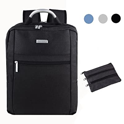 Ascrown SHAOLONG Nylon Water Repellent Laptop Backpack 15.6 Inch Computer Bag Business Bag School Backpack Traveling Backpack