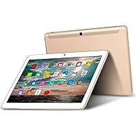 Tablet 10 Pollici - TOSCIDO Android 9.0 Certificato da Google GMS,Quad Core,4G LTE Dual Sim Carta,64 GB Memoria,RAM 4 GB,WiFi/Bluetooth/ GPS/OTG,Suono Stereo con Doppio Altoparlante – Oro