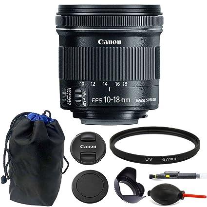 f23280142c85f Amazon.com   Canon EF-S 10-18mm f 4.5-5.6 IS STM Lens + 67mm UV ...