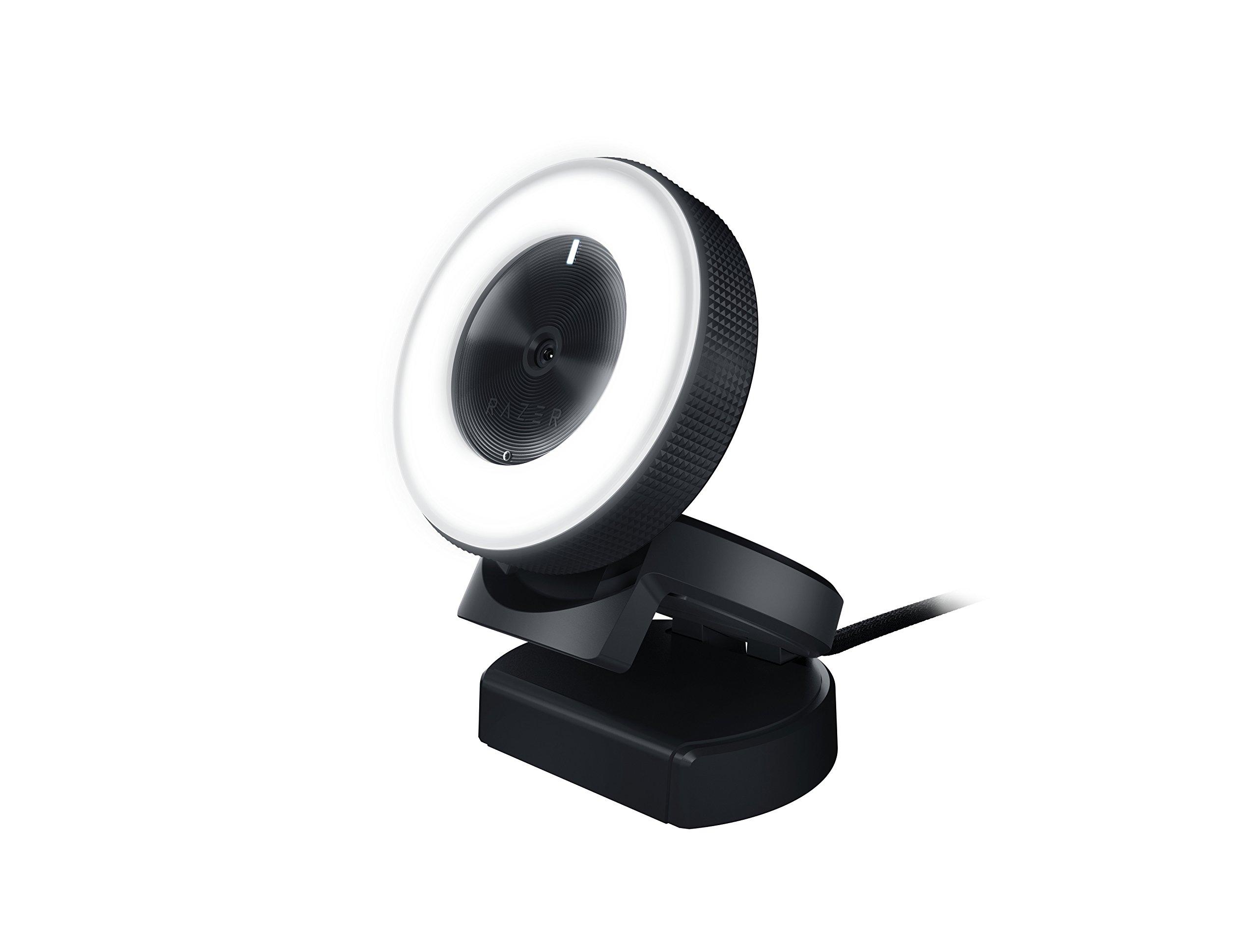 Razer Kiyo Streaming Webcam: 1080p 30 FPS / 720p 60 FPS - Ring Light w/ Adjustable Brightness  - Built-in Microphone - Advanced Autofocus by Razer