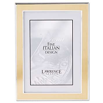 Amazoncom Lawrence Frames Silver And Gold 5 By 7 Metal Picture