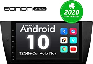 Car Stereo Double Din Car Stereo, Android Head Unit Android 10 Eonon Car Stereo Applicable to 3 Series E90/E91/E92/E93, 9 Inch Support Split Screen, Android Auto Built-in Apple Carplay/DSP -GA9465B
