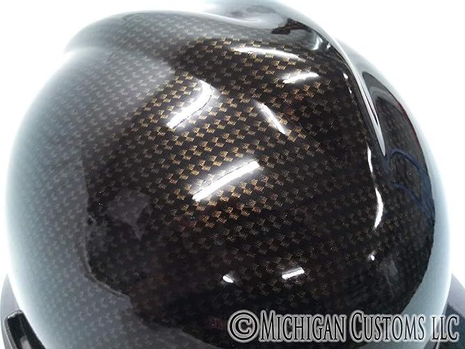Amazon com: Regular Brim Gold and Black Carbon Fiber MSA V-Gard Hard