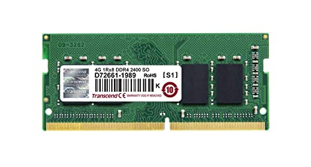 Transcend 4 GB DDR4 2400 Mhz Laptop RAM Memory at amazon