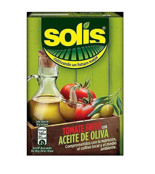 SOLIS Tomate Frito Con Aceite de Oliva Brick- Tomate Sin Gluten - 400g