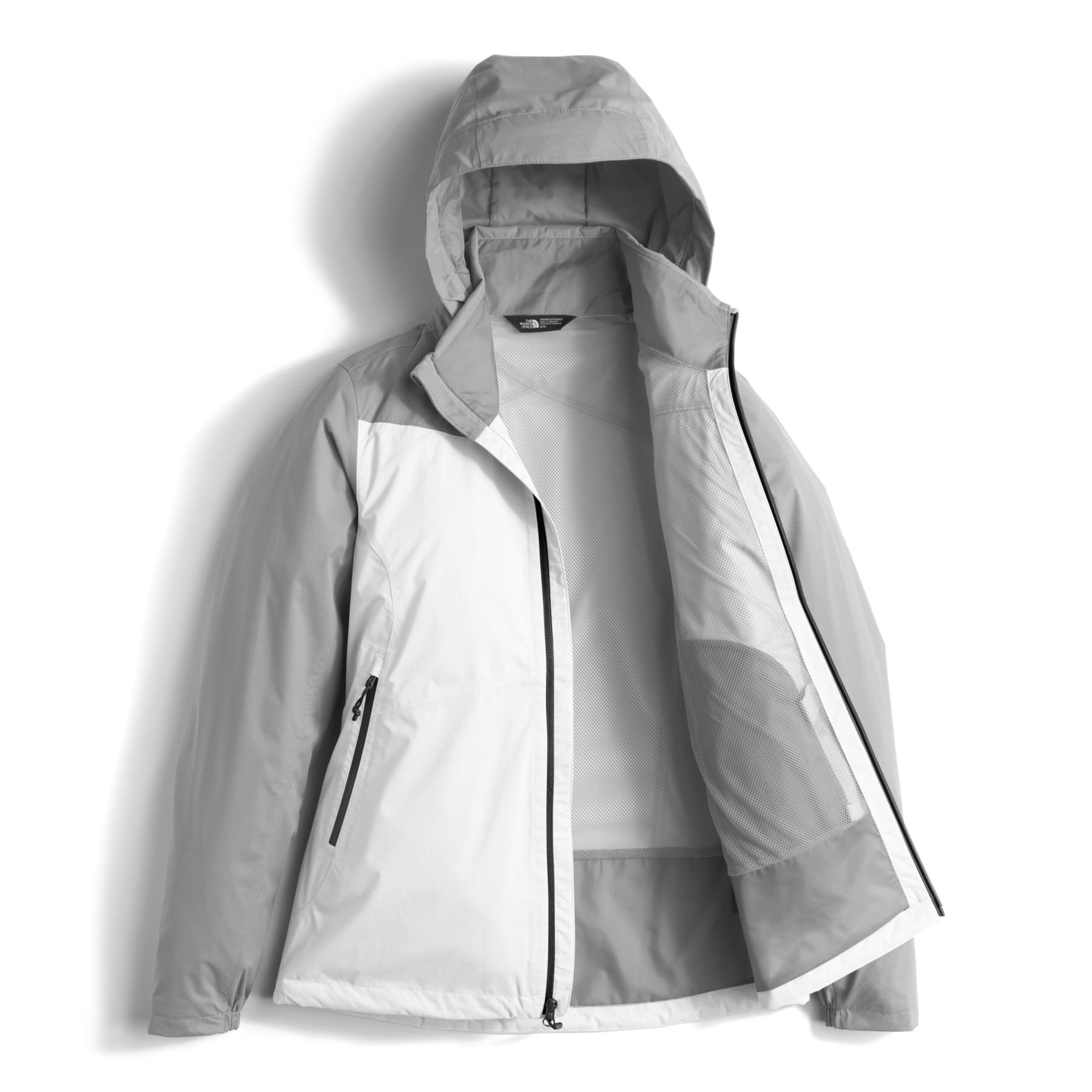 The North Face Women's Resolve Plus Jacket - TNF White & Mid Grey Dobby - XL by The North Face