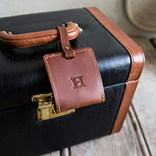 product image for The Adventurer Fine Leather Luggage Tag