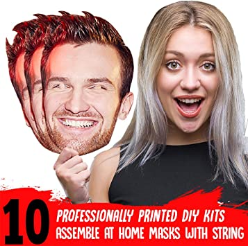 15 x PERSONALISED PHOTO FACE MASKS KITS FOR STAG /& HEN NIGHT AND BIRTHDAY PARTY