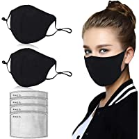 Dust Mask, Amazer Tec Activated Carbon Dustproof Mask, 2 pcs Cotton mask with 4 Extra Carbon Filters for Pollen Allergy…