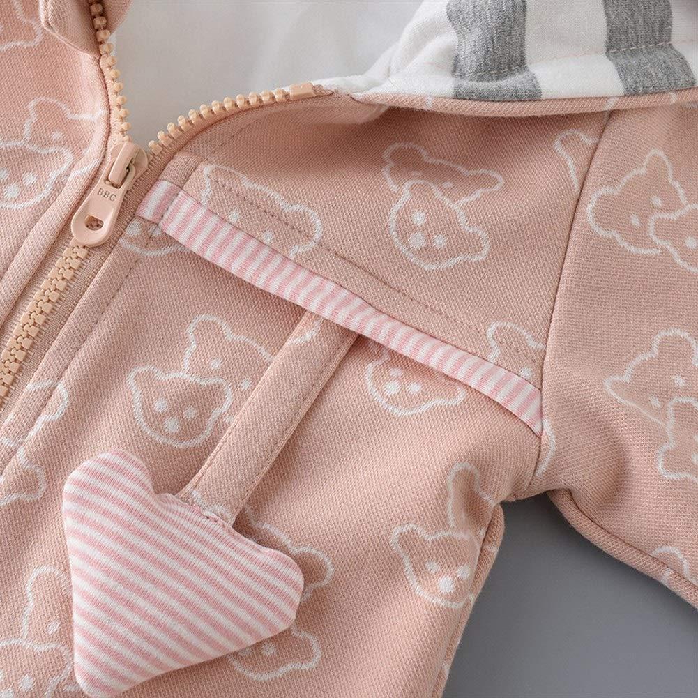 0-3T Eveliyning Toddler Boys Autumn Playwear Long Sleeve Cotton Romper Adorable Cartoon Bear Style Design Spring Onesie Kids Casual Homewear Fashion Casual Zipper Babys Romper