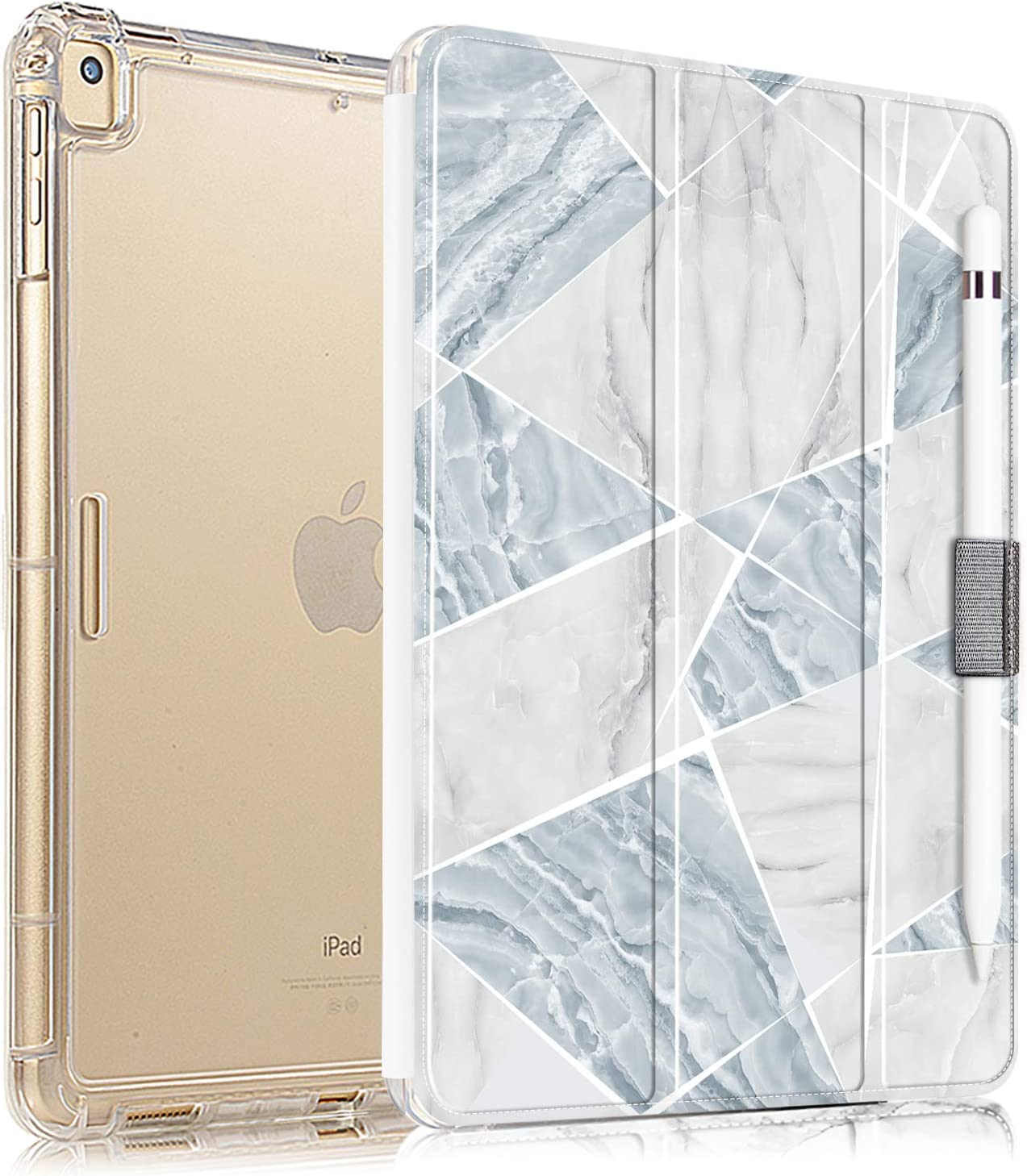 Valkit iPad Mini 5th Generation 2019 Case, iPad Mini 4 Case,Translucent Frosted Back Protective Smart Cover for 2019 Apple iPad Mini 5 7.9 Inch [with Auto Sleep/Wake], Blue Marble