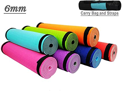 YogaStudio - Esterilla para yoga (6 mm de grosor Extra suave ...