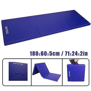 CCLIFE Tragbar Faltbar Gymnastikmatte Weichbodenmatte Yogamatte ...
