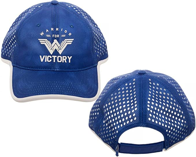 Amazon.com  Wonder Woman Victory Adjustable Cap Blue  Clothing f7d0750930b9