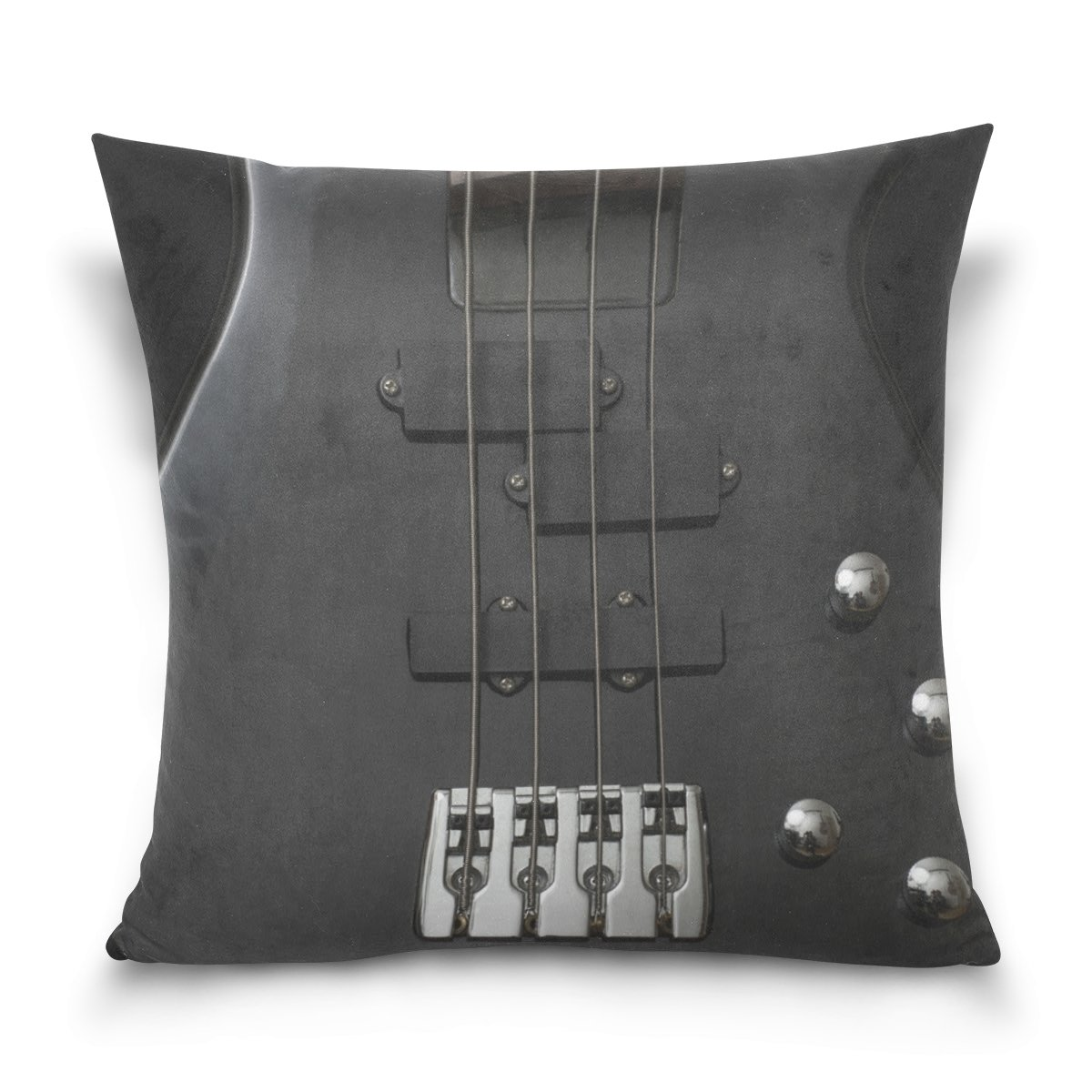 格安人気 josidスロー枕カバーケースSquare Inches Double Sidedギターベース楽器ブラックRock 16 x x 16インチInvisible Zipperのホーム装飾ソファベッド 18 B07CTMXKMN x 18 Inches 18 x 18 Inches B07CTMXKMN, たまりば@小豆島:e579d067 --- a0267596.xsph.ru