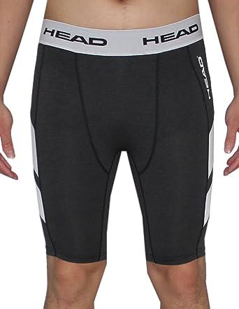 Amazon.com  Mens HEAD Athletic Fitness Training Compression Shorts S Dark  Grey  Clothing 9f3dedd42992