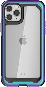 Ghostek Atomic Slim Phone Case for iPhone 11 Pro Max Clear Protective Military Grade Bumper Rugged Heavy Duty Protection Shockproof Protector Cover for 2019 iPhone 11Pro Max (6.5 Inch) - (Prismatic)