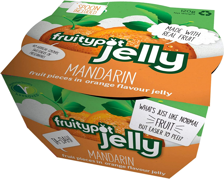fruitypot Fruitypot Segmentos de mandarina en gelatina con cuchara 18x120g