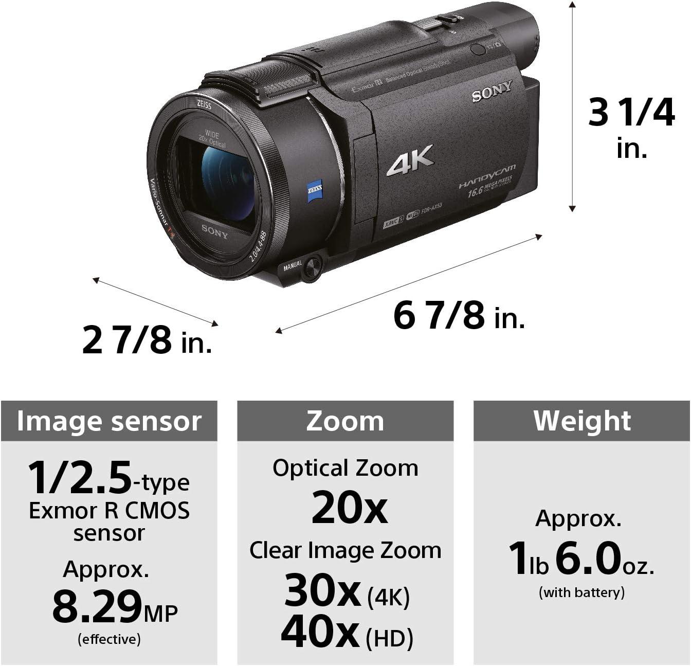 Sony FDRAX53 Build Quality