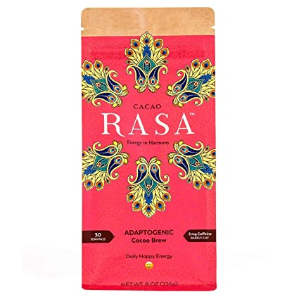 Amazon Com Cacao Rasa Coffee Alternative With Chaga Reishi For All Day Energy Focus Organic Adaptogenic Vegan Keto Low Caffeine Whole30 8 Ounce Grocery Gourmet Food