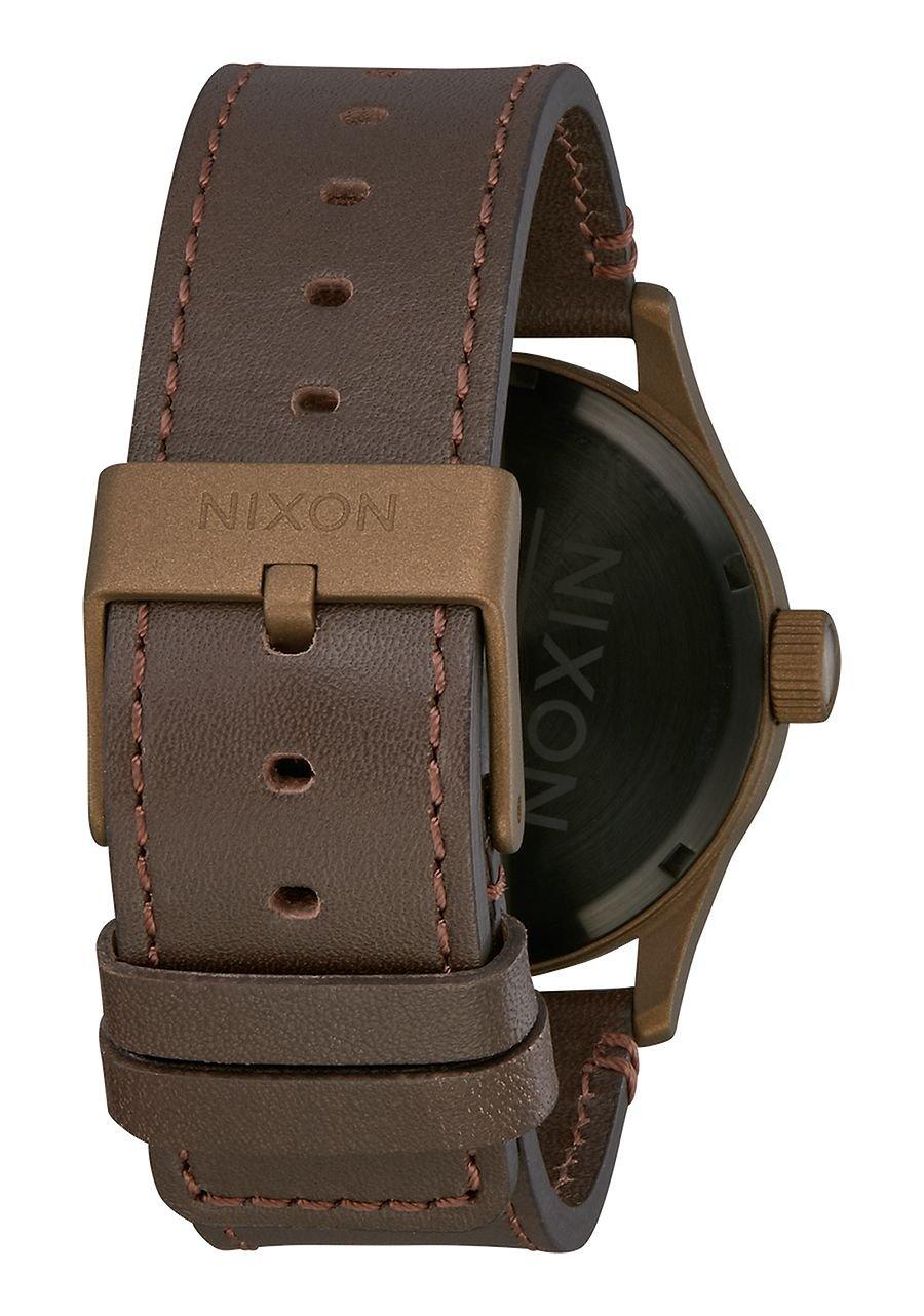 Nixon Sentry Leather Watch Bronze Cerakote Brown by NIXON (Image #3)