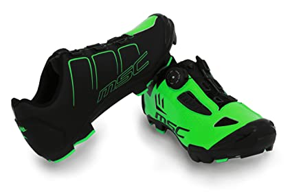 MSC Bikes Aero XC Zapatillas Ciclismo, Verde, T-41