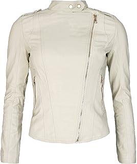6e5d2a327653 Golden Brands Selection Stylische Damen Kunstleder Biker Jacke Kunst Leder  Übergangs Bikerjacke kurz B86