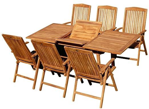 Edle teca XL jardín Mobiliario de jardín muebles de jardín mesa ...