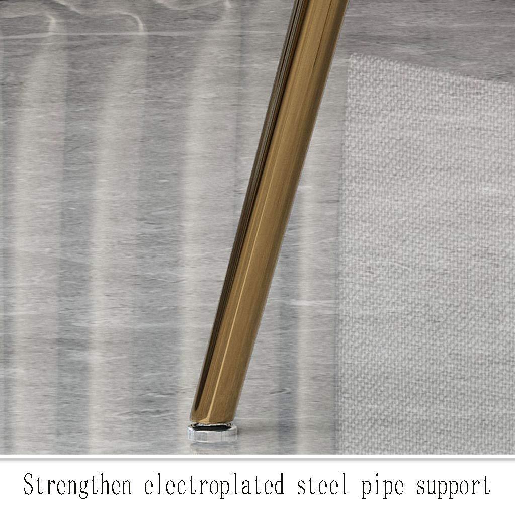 HEJINXL Matstolar, mjuk kristall sammet kudde säte baksida stål halkfria fötter lämpliga för enkel hempall skrivbord matbord stolar köksstolar uppsättning med 4 (färg: C) E