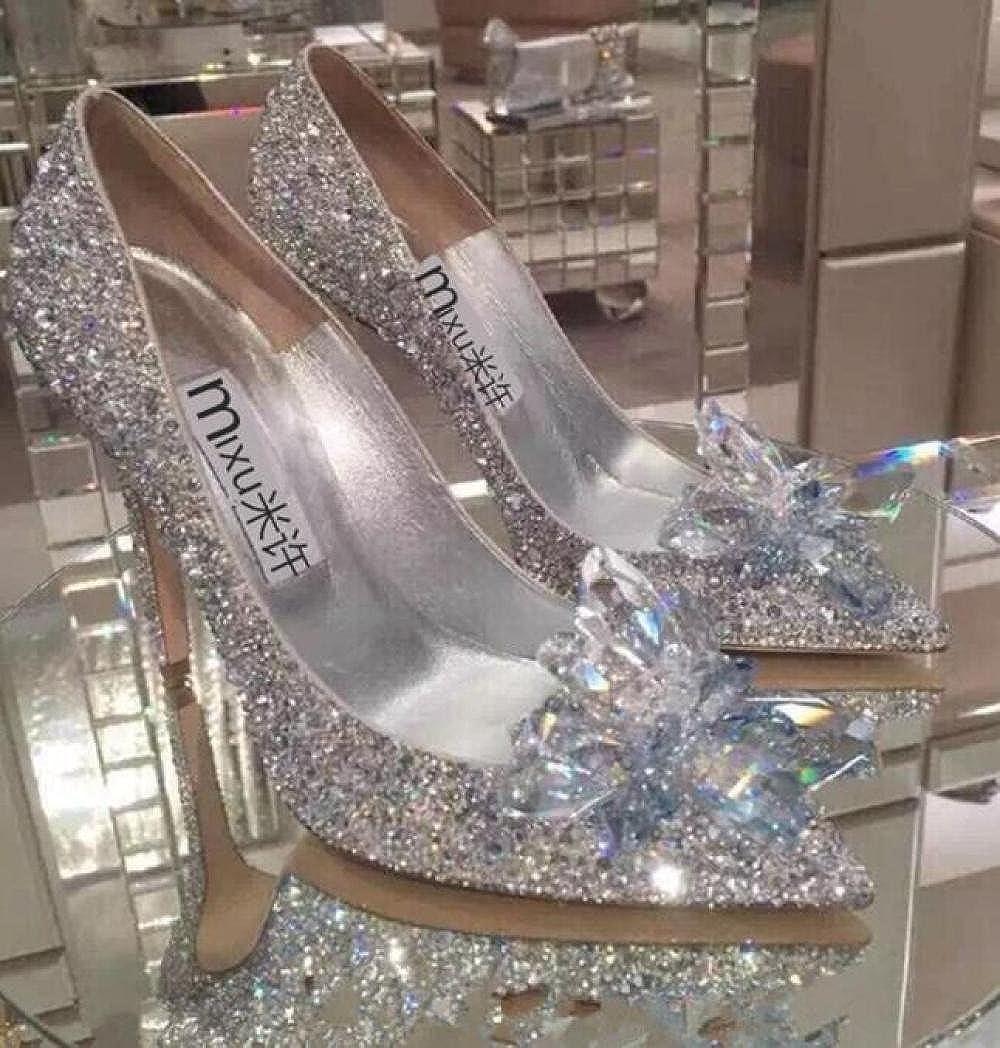 KNGMGK Kristallschuhe Hochzeitsschuhe Hochzeitsschuhe High Heels Hochzeitsschuhe Hochzeitsschuhe Einzelne Schuhe Hochzeitsschuhe Silver7cm 03e3d0
