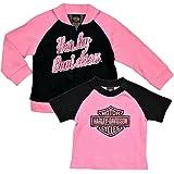 Black 4004613 Harley-Davidson Baby Girls/' Stencil Floral Newborn Leggings