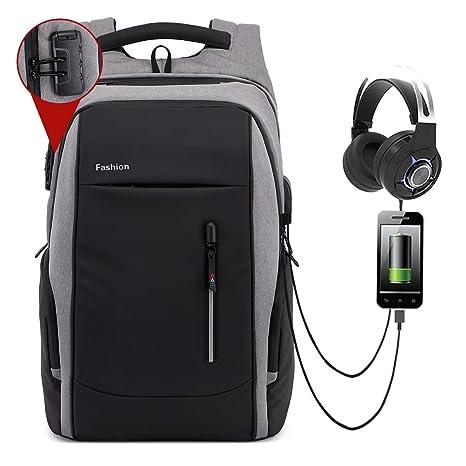 """Kobwa 17/17,3"""" Mochila para portátil con Puerto de Carga USB para"""
