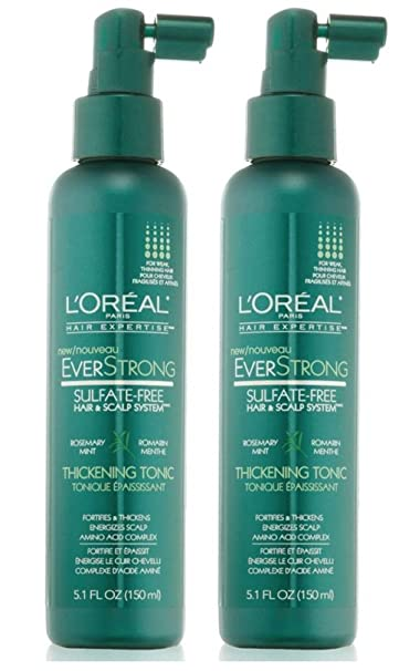 Amazon.com: L'Oreal Paris EverStrong Hair Thickening Tonic, 5.1 ...