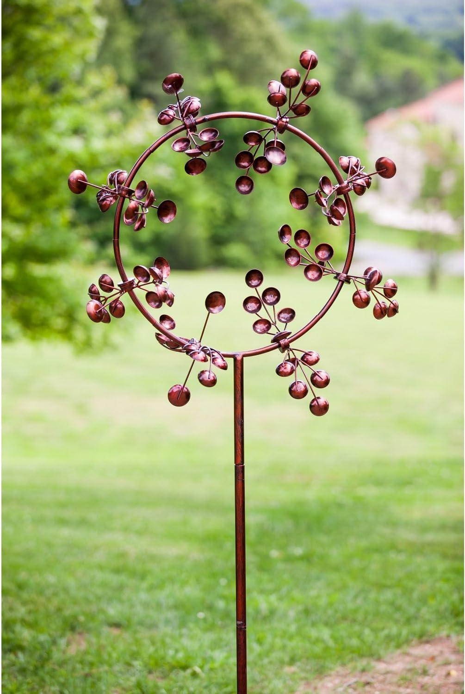 Evergreen 75-inch Gleaming Jubilee Outdoor Safe Kinetic Wind Spinner Garden Stake