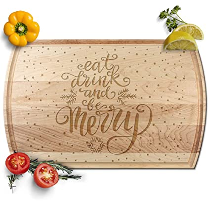 Amazon Com Froolu Eat Drink Be Marry Cutting Board Wedding Gift For