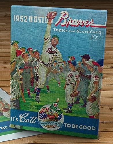 Amazon 1952 Vintage Boston Braves Scorecard