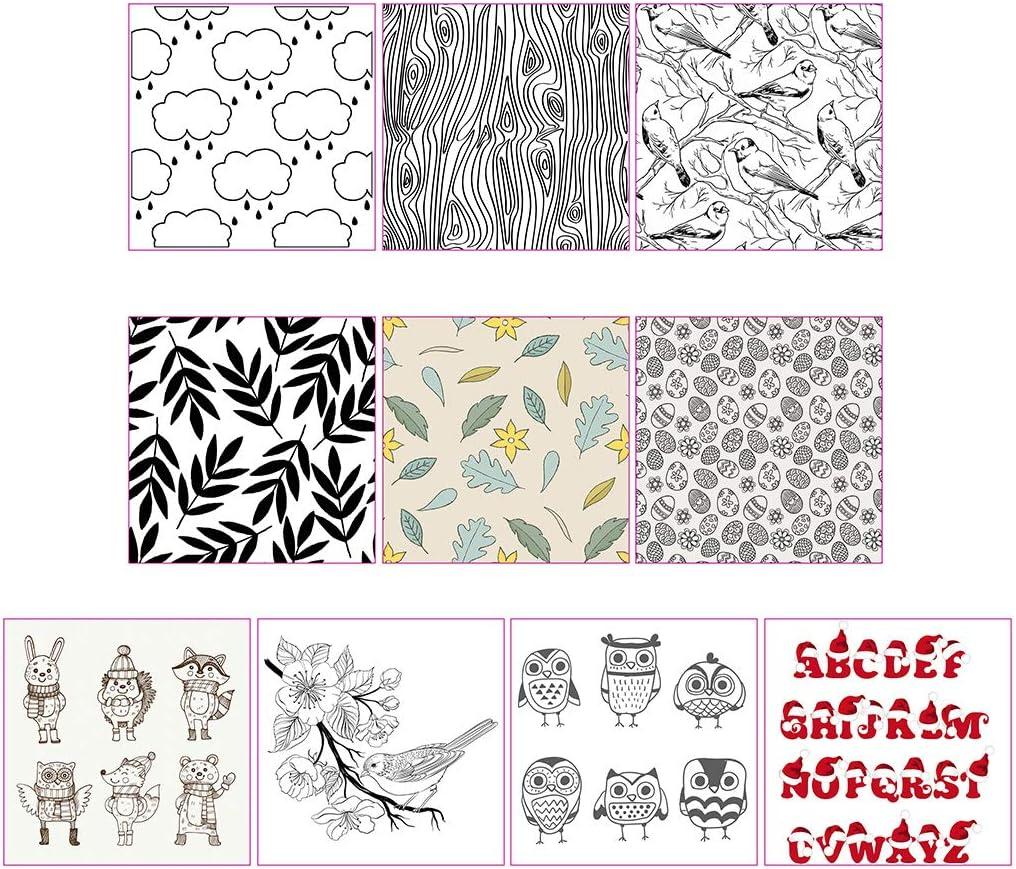 lixiaoxuty Clear Stempel Blumen Vogel Tiere Transparent Stamp f/ür Weihnachten Hochzeit Kartenherstellung Silikon Briefmarken DIY Scrapbooking Embossing Karte Decor