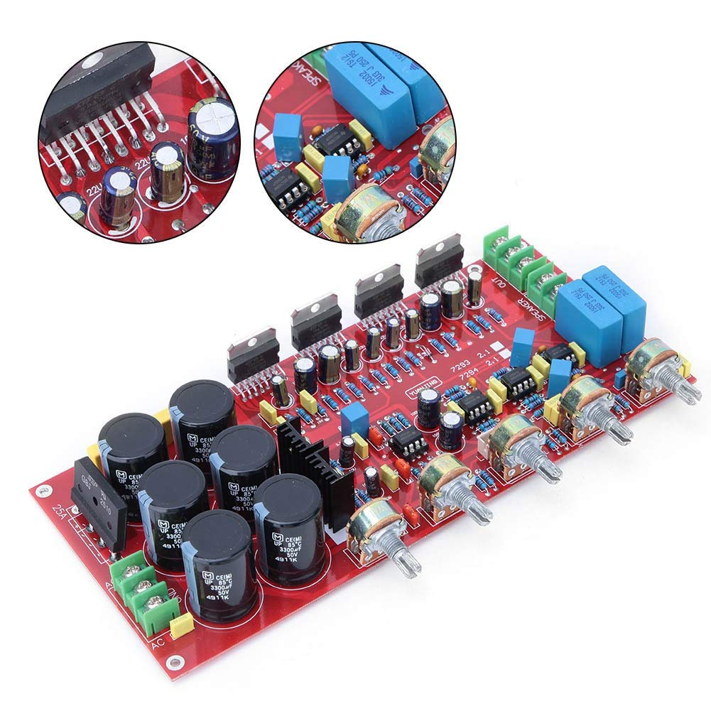 Multifunctional 2.1 Subwoofer Speaker Amplifier Board Portable Audio 30W Sub AMP with Independent 2.0 Output