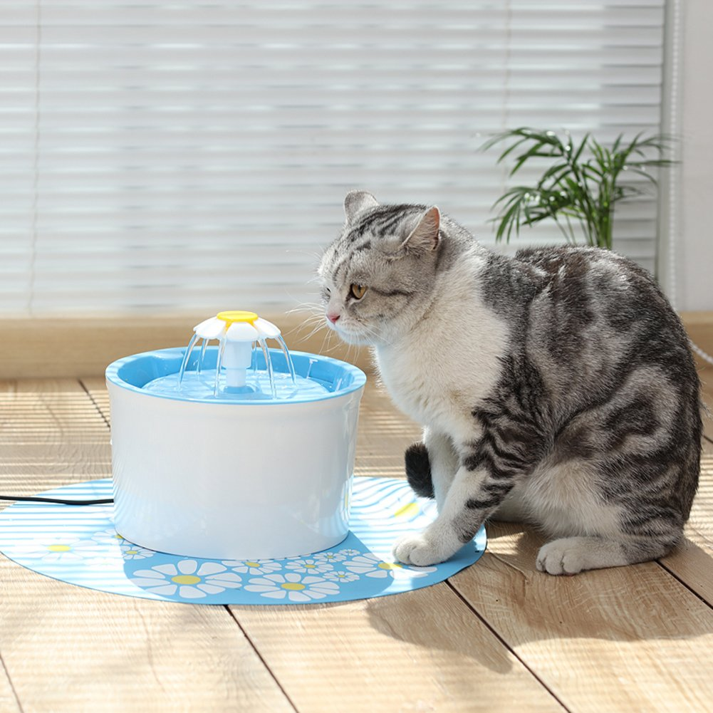 Una Fontana di Fiore, Fontana di Acqua Originale per gatti e piccoli Cani -A